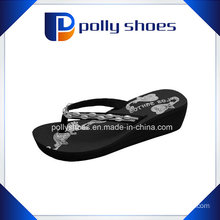 Black Thong Flip Flop Platform Wedge Beach Sandals New