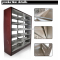 School library furniture double sided cheap book display shelf