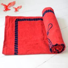 Les serviettes de plage de coton de gland de rayure directement adaptées aux besoins du client faites dans la Chine Usine directement les serviettes de plage de coton de gland de rayure adaptées aux besoins du client faites en Chine