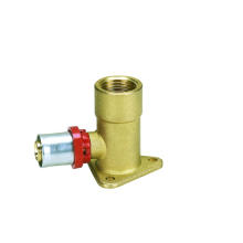 Female Elbow With Wall-Plate (Press Fitting) (HZ8508)