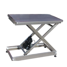 Flat-top Stainless steel dually vet operating table for Veterinary instrument in pet clinic