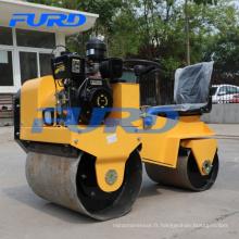 700 kg de refroidissement par air diesel moteur mini compacteur à rouleaux de route (FYL-850)
