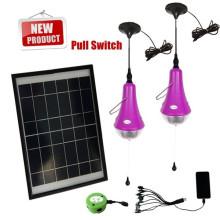 Système d'éclairage solaire portable bon marché pour éclairage de secours intérieur, panneaux solaires, kits de lumière solaires minis