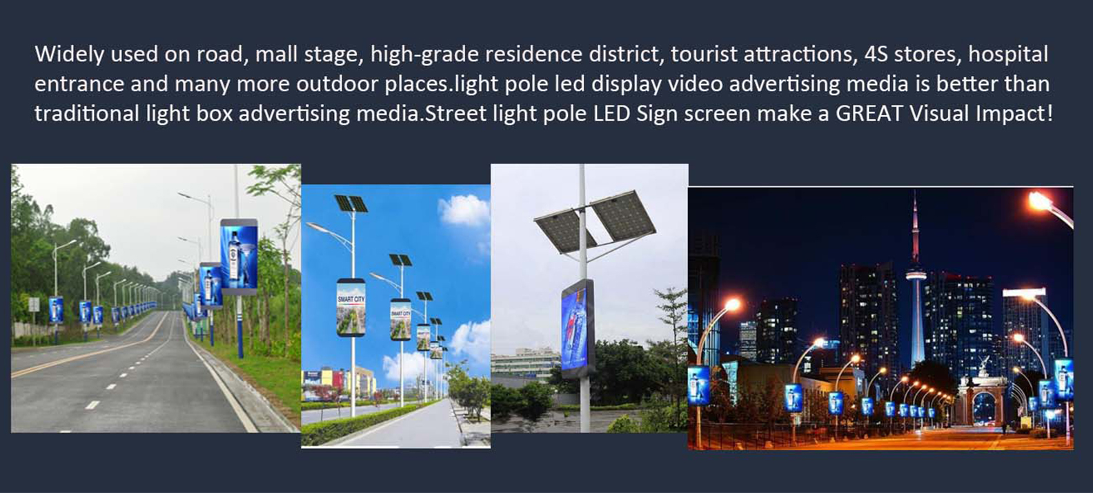 Led Display Board For Street Pole P5 Panel