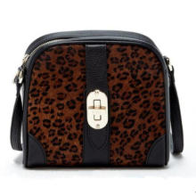 Aw New Collection Leopard-Printed Horse Hair Crossbody Bag (ZX20196)