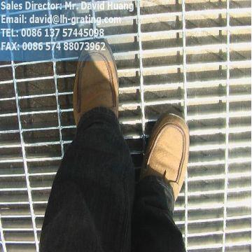 Galvanizado Electro forjado parrillas de piso