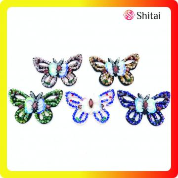 Butterfly beads appliques sew on patch