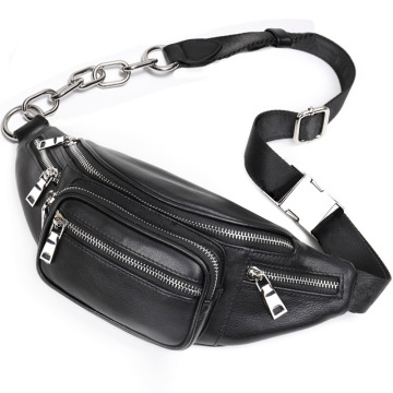 Novo Estilo PU Leather Women Waist Bag