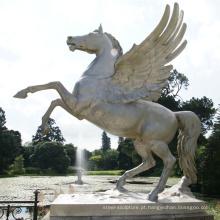 Cavalo de bronze da decoração do parque da alta qualidade com estátua das asas