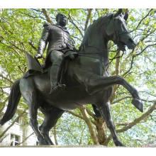 Estátua de bronze do cavalo do guerreiro de alta qualidade 2015 for sale
