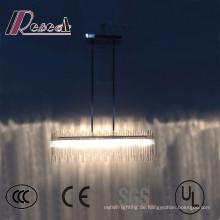Moderne Hotel dekorative LED Glasrohr Deckenleuchte