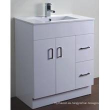 Vanidad blanca brillante del cuarto de baño del MDF de las mercancías sanitarias modernas (AB-75M)