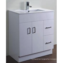 Vaidade branca lustrosa do banheiro do MDF dos mercadorias sanitários modernos (AB-75M)
