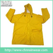 Yj-1056 imperméable à l'eau imperméable à la jaquette avec imperméable jaune pour imperméable pour femme