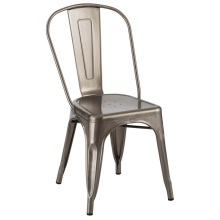 Tolix Metal Transparan Powder Coating Steel Chair