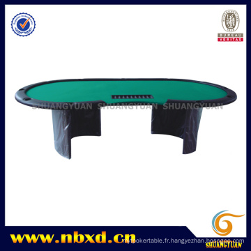 Table de poker pour 11 personnes avec pied en bois (SY-T18)