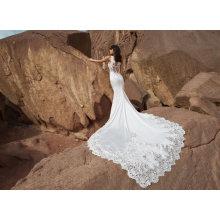 China Satin Mermaid Bridal Wedding Dress (BH014)