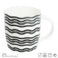 12oz Ceramic Mug with Waves Decal Design