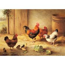 Pintado a mano pintura al óleo animal decorativo de pared