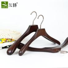 personalize deluxe ash wood  suits coat wooden hangers in 4 pieces