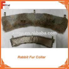 Collar de piel de conejo marrón natural superventas