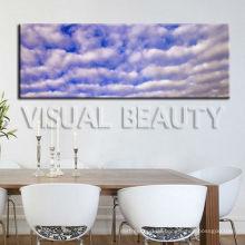Natürlicher blauer Himmel-panoramischer Malerei-Druck auf Segeltuch