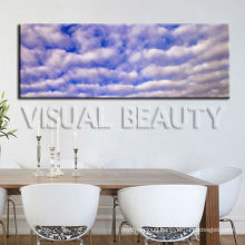 Natural Blue Sky Panoramic Painting Print On Canvas