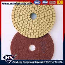 4''wet алмазные полирующие подушки для бетона и гранита