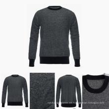 Suéter de cachemira pura 100% superior del cuello del equipo de los hombres con los modelos
