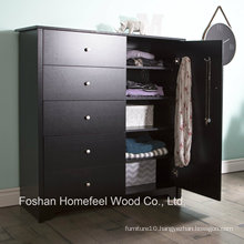 Amazing Bedroom Furniture 5 Drawer Wooden Dresser in Black