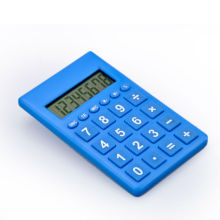 Colorful Electronic Pocket Calculator with Memory Function