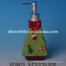 Personalized christmas tree shaped ceramic lotion dispenser,decorative lotion bottles