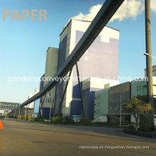 Transportador de banda de curvatura de plan de larga distancia / Coneyor de banda curvada Aplicación en industrias de papel