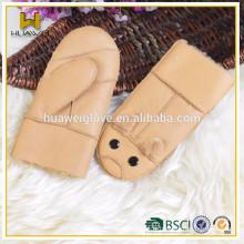 Gants mitaines enfants mouchoirs en cuir de mode hiver