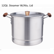 Wooden handle tamales cookers with aluminum lid