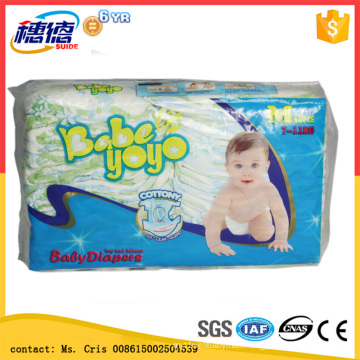 Wholesale Disposable First Grade Stock Baby Diaper Magic Tape Diaper for Europe Country