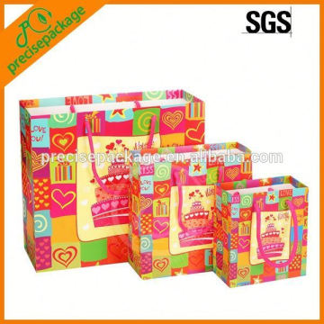 Laminated Paper Gift Bag For Birthday Or Christmas