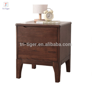 Natural white oak wood night stands bedside cabinet