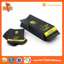 FDA approved customized printing plastic aluminum foil valve side gusset coffee packaging bag