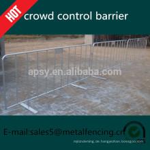 Kundengebundene galvanisierte Metallmengensteuerbarriere, Fußgängerbarrieren für Verkauf