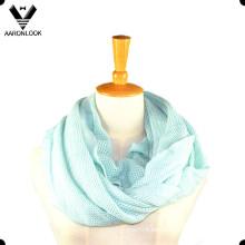 Lady Soft acrílico de punto de patrón bufanda de cuello de seda