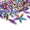 Радужные лепестки керамической мозаики для цветочного дизайна