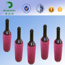 Rede plástica plástica da luva da espuma expansível para a garrafa de vinho de vidro