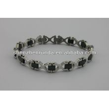 China fabricante, 2014 moda de acero inoxidable Pulsera magnética, exquisito y encanto para las mujeres pulsera