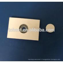 Alumine Al2O3 ZTA Zircone céramique céramique de soudage brique céramique bouchon avec embout matal