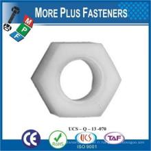 Fabriqué à Taiwan Métrique Black Nylon hexagonal Plastic Nut