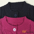 Jeune fille manches courtes Cable Cardigan Sweater