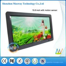 16: 9 resolución 1366x768 delgado marco de fotos digital LCD de 15.6 pulgadas