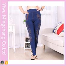 Yiwu Factory Прямая Новая леди корейских тонких джинсовой поножи