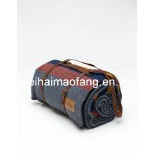 Tejido tejer manta de viaje del tiro de pura lana virgen 100%